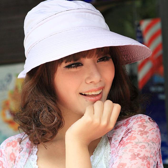 Attractive Woman Summer Sun Visor Cap Brim Large Zipper Dual-Use Sunscreen Hat May 26(China (Mainland))