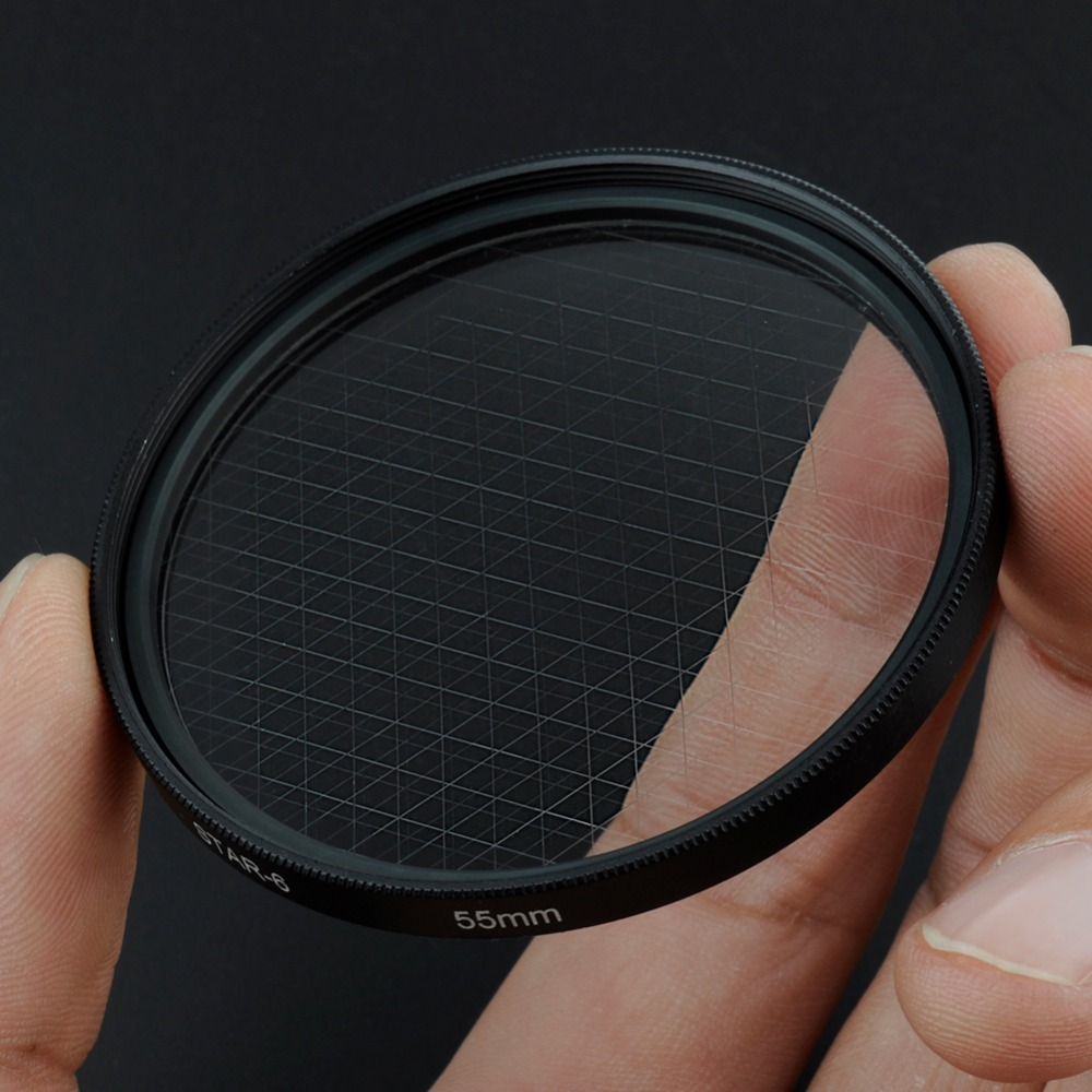 Neewer 55mm Optical 6-Point Star Cross Filter Twinkle Effect for Digital Camera Lens Free Shipping(China (Mainland))