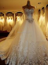 2014 New Bandage Tube Top Crystal Luxury Wedding Dress 2014 Bridal gown wedding dresses vestido de noiva