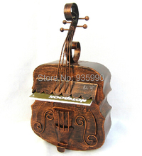 New Vintage Rustic Iron Metal High Quality Shape Of The Piano Newspaper Mailboxes Post Box Letter Box Mailbox Home Decoration(China (Mainland))