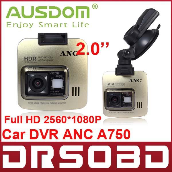 Full HD 2560*1080P AUSDOM ANC A750 2.0'' Digital Car DVR camera 150 Degree Angle vehicle digital video recorder free shipping(China (Mainland))