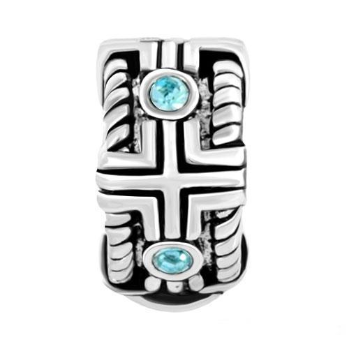Wholesale 100Pcs/Lot Charm Stamp 925 Silver March Births Aquamarine Blue Clip Lock Round Stopper Bead Charm for Pandora Compatib<br><br>Aliexpress