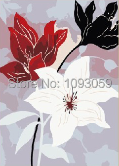 Frameless Arcylic Paint DIY Digital Oil Painting Pictures Free Shipping Wall Art 40X50cm Decorative Flower 2 Paint By Number(China (Mainland))