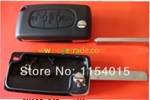 High quality Renault 2-button 206 remote key shell /casing (no logo) old 5pcs/lot(China (Mainland))