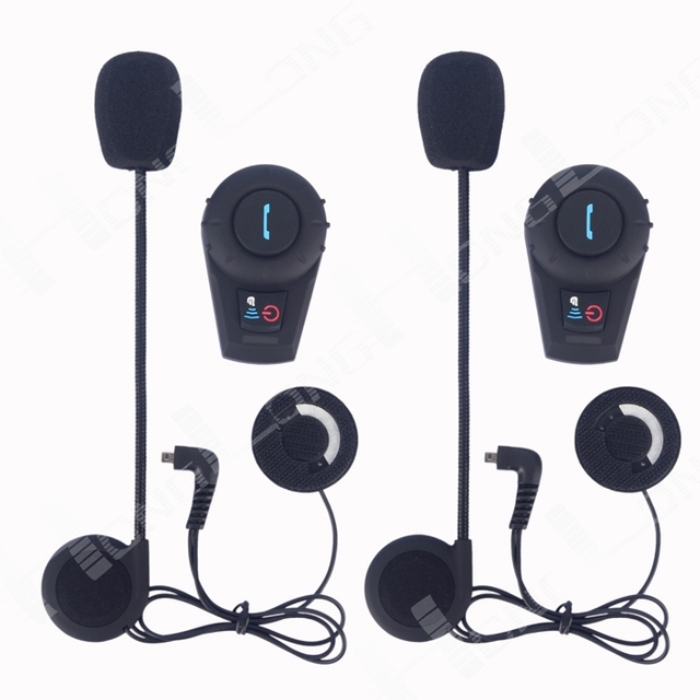 FDCVB Bluetooth Helmet Headset and Intercom for Scooters and Motorcycles,Free Shipping!(Pack of 2)