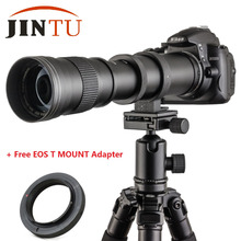 Buy JINTU Super 420-800mm F/8.3-16 Manual Zoom Telephoto Lens CANON EF 5D Mark III 3 II 7D II 650D 700D 1000D 450D DSLR Camera for $99.98 in AliExpress store