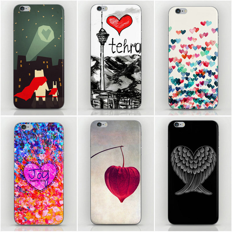 Heart love Style cover iPhone 4s Cases 4 Back PC Factory Price 4g cell phone sets - Dream Hero Shop store