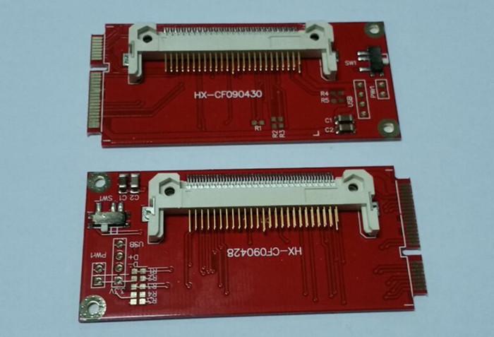 2pcs CF mini PCI-E,mini pci-e adapter,mini PCI express,CF card to mini PCI-E express adapter as SSD for EEEPC 901/900A(China (Mainland))