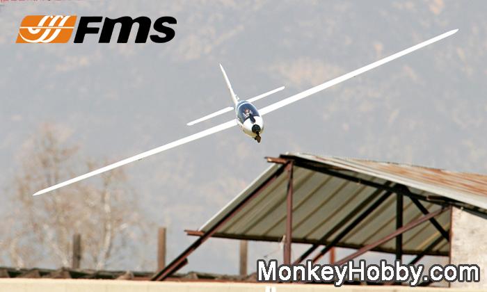 FMS 2300mm / 2.3M FOX V2 Glider EPO FMS RC airplane FMS023 (PNP)