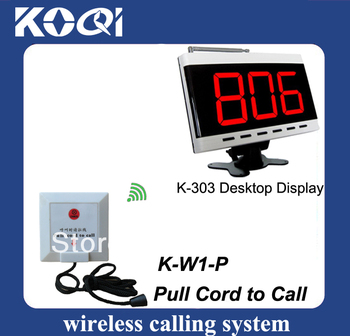 New arrivals Nurse call system 1 pc call number panel K-303 with 20pcs nurse call button K-W1-P pull cord to call