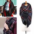Unisex Women Men Warm Blanket Large Oversized Tartan Scarf Wrap Shawl Bandana Plaid Checked Pashmina Scarves