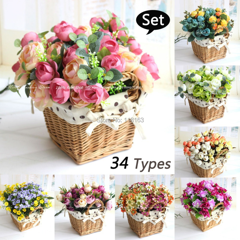 Artificial Flower Baskets Online : Get cheap silk flower baskets aliexpress