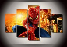 High Quality Wall Art Fallout Spiderman Room Decoration Canvas Of Wall Decals Kids Home Decor Painting Unframed 5 Pieces/set(China (Mainland))