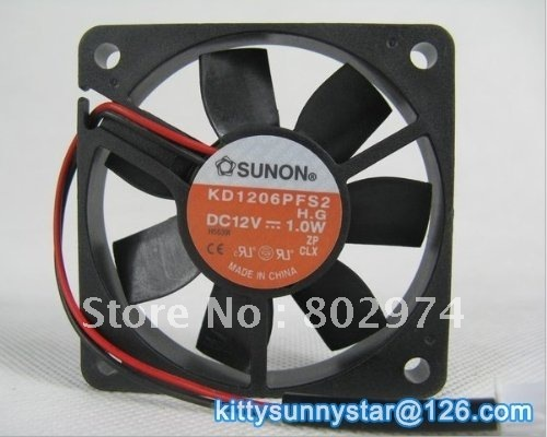 SUNON 6010 KD1206PFS2 12V 1.0W 2Wire Server Fan,dc axial fan,Cooling Fan