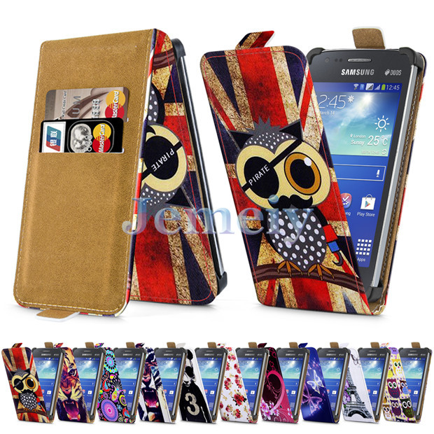 "Floral Minion Girl Print Universal Cases For Samsung Galaxy Ace 3 GT-S7272 4"", PU Leather Skin Card Holder Flip Cover Stand Case(China (Mainland))"