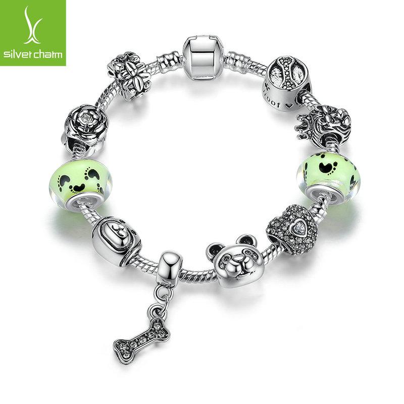 Wholesale Brand NEW Fashion 925 Silver Pet Style Beads Charm Love Bracelets For Women DIY Original European Jewelry(China (Mainland))