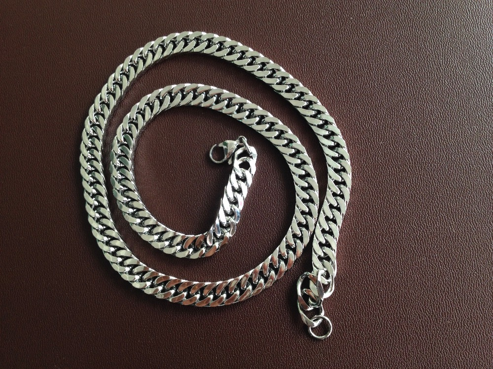 Special offer high quality Simple single to wear flat chain fashion necklace titanium steel chain necklace jewelry for men(China (Mainland))