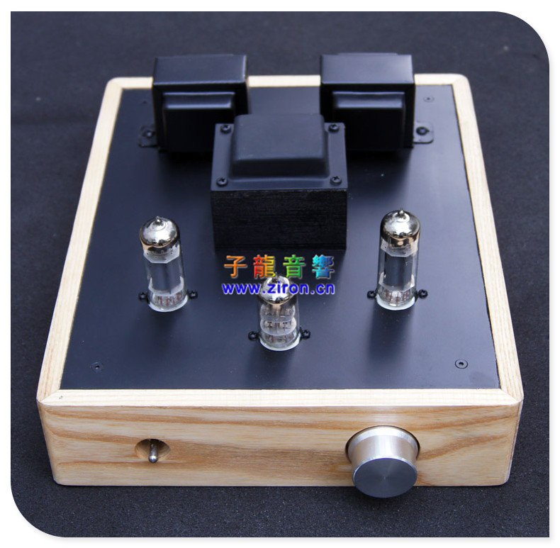 6n1 6p1 wood logs computer case small desktop power tube amplifier vacuum tube amplifier computer audio(China (Mainland))