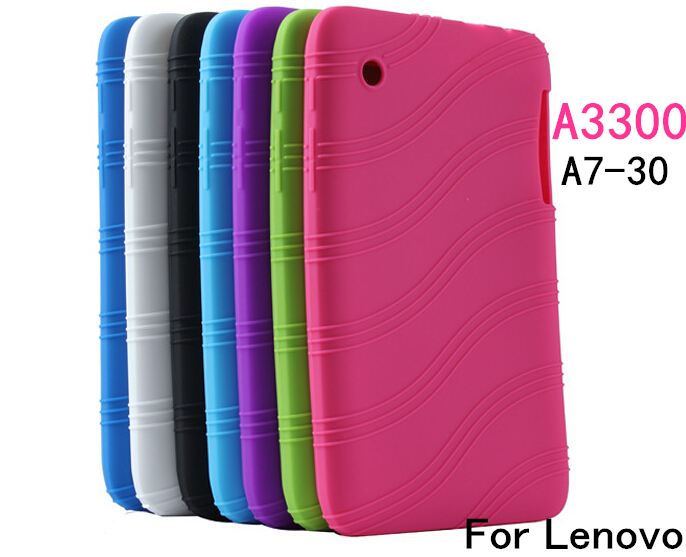 New Colorful For Lenovo A3300 A7-30 7 inch Sweety Silica Gel Soft Back Cover Case Computer Tablet Silicon Bag Free shipping(China (Mainland))