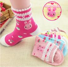 2016 new season 1 lot 2 pair cartoon Kids Socks Cotton 1 to 12 Years cartoon girl Socks stripe boys socks(China (Mainland))