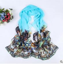 Hot Summer Fashion Scarf all-match female long scarf spring Chiffon printing sunscreen shawl(China (Mainland))