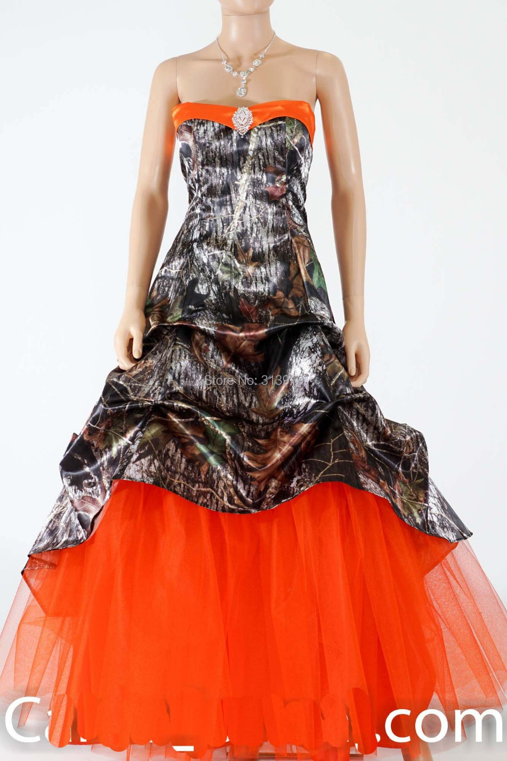 Camo and Orange Prom Dresses Promotion-Shop for Promotional Camo ...