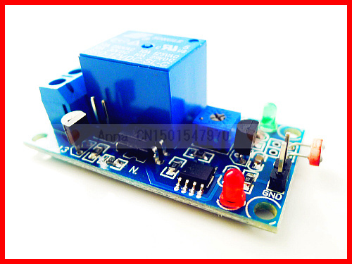 10pcs/lot,board PCB,12V relay module light detection sensor,switch photoresistor,used car LED ,lights auto control(China (Mainland))