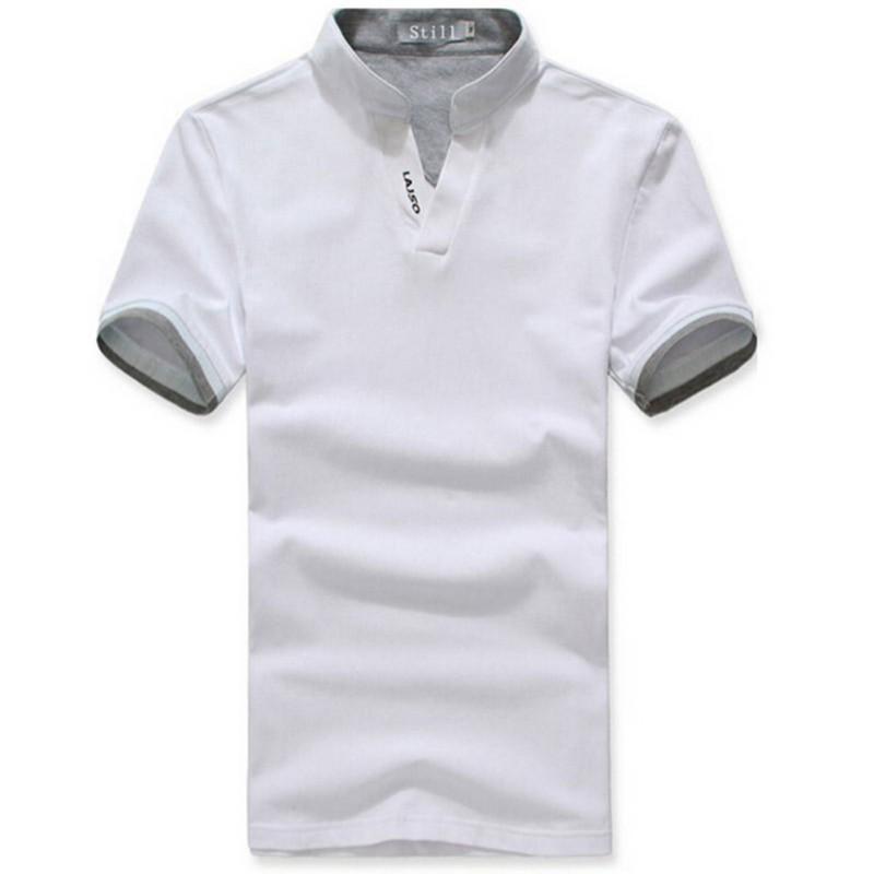 Classic Solid Color Men Lapel Polo Shirt Short Sleeve Tee T-shirt M L XL XXL 3XL(China (Mainland))