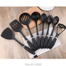 8Pcs/Set New Hot High Quality Food Grade Silicone Kitchen Utensils Set strainer shovel spoon cooking tools kitchen Accessories