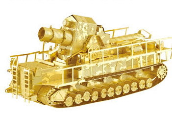 Railway Gun Tank model Gold and silver color 3D DIY laser cutting tank model educational diy toys Jigsaw Puzzle best gifts<br><br>Aliexpress