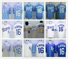 16 bo jackson jersey Royals Jersey 5 BRETT 17 DAVIS 25 MORALES Hosmer 35 Perez 13 Gordon 4 Throwback baseball sewing SIZE:M-3XL(China (Mainland))