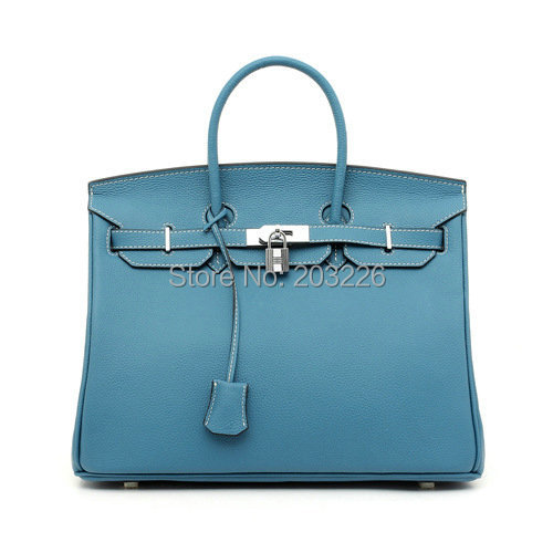 Clearance Sale women's fashion bag handbags genuine leather handbags 35cm famous brand bags lock buckle top quality(China (Mainland))