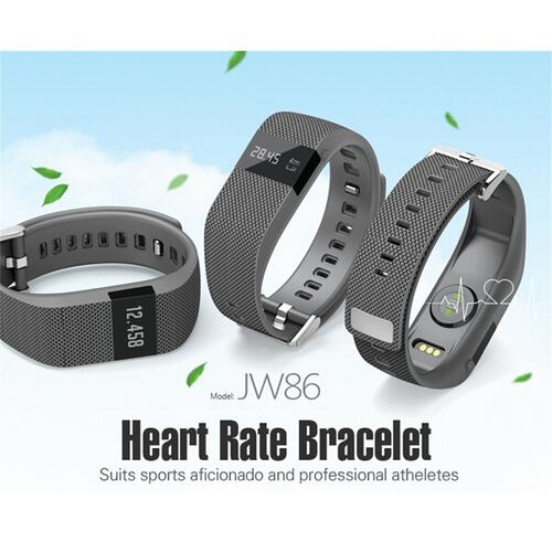 JW86 heart rate Smart Bracelet Wristband watch Bluetooth 4 0 similar for fitbit Fitness Activity Track