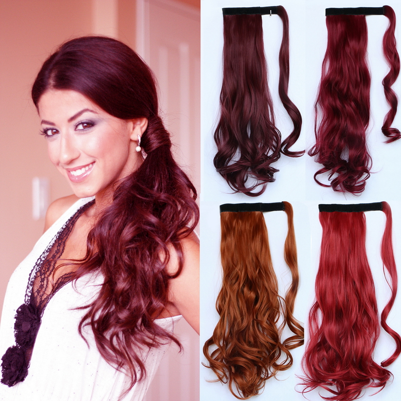 Red Ponytail Extension Remy Indian Hair