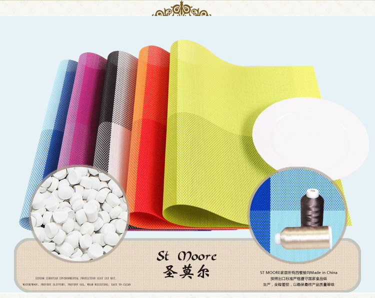 4 pieces of PVC insulation kitchen placemat table decoration matts placemat dinner mat(China (Mainland))