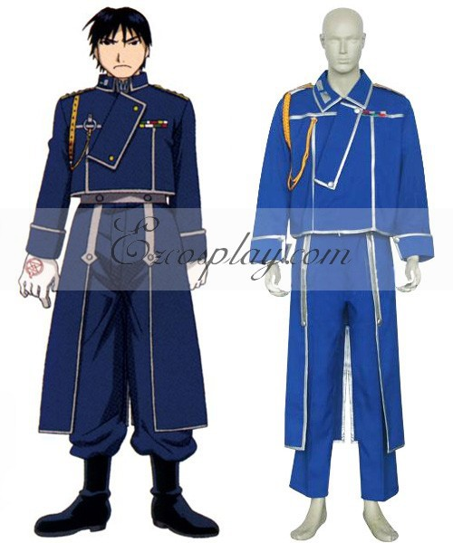 Fullmetal Alchemist Roy Mustang Military Cosplay Costume E001(China (Mainland))