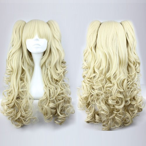 Wholesale Price 70cm Long Wave Braided Light Golden High Quality Synthetic Lolita Wig<br><br>Aliexpress