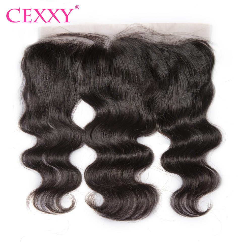 CEXXY Brazilian Lace Frontal Closure Remy Hair Body Wave 13*4 Plucked Natural Hairline Bleached Knots Baby Hair 100% Human Hair(China (Mainland))