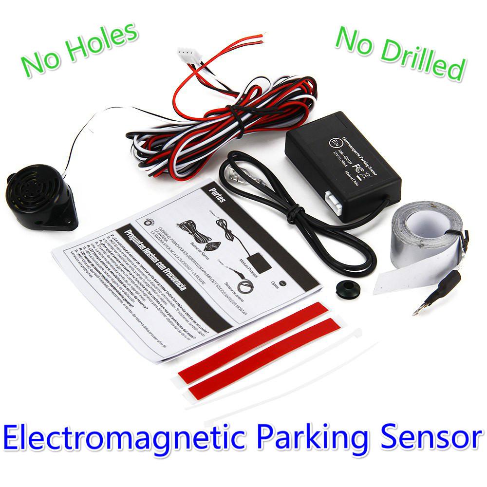 New Car Auto Electromagnetic Parking Sensor No Holes Need Easy Install Parking Radar Bumper Guard Reverse Backup Radar Sensor(China (Mainland))
