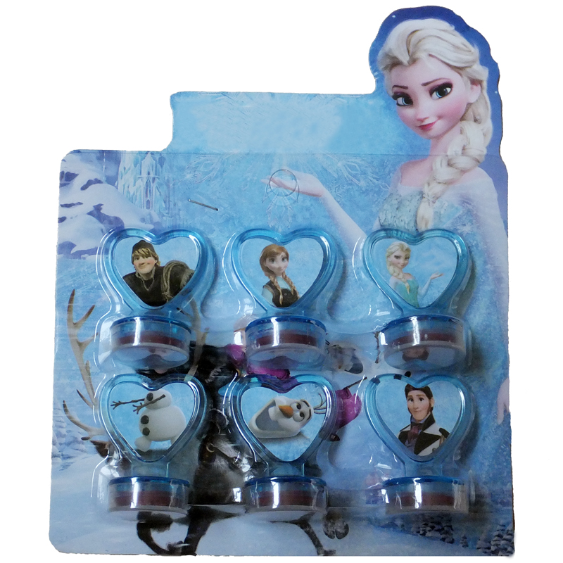 Гаджет  Frozen Dolls Seal Stamper Elsa Anna Princess  Olaf Action Figure Toys For Boys Girls Kids Gifts Children Hobby 6pcs/lot None Игрушки и Хобби