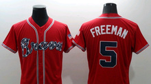 2017 Atlanta Braves Jersey Men 5 Freddie Freeman 10 Chipper Jones 24 Deion Sanders 6 Bobby Cox 44 Hank Aaron Baseball Jersey(China (Mainland))