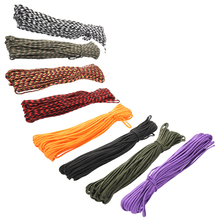 8 Colors Paracord 550 Paracord Parachute Cord Lanyard Rope Mil Spec Type III 7Strand 100FT Climbing Camping Survival Equipment(China (Mainland))