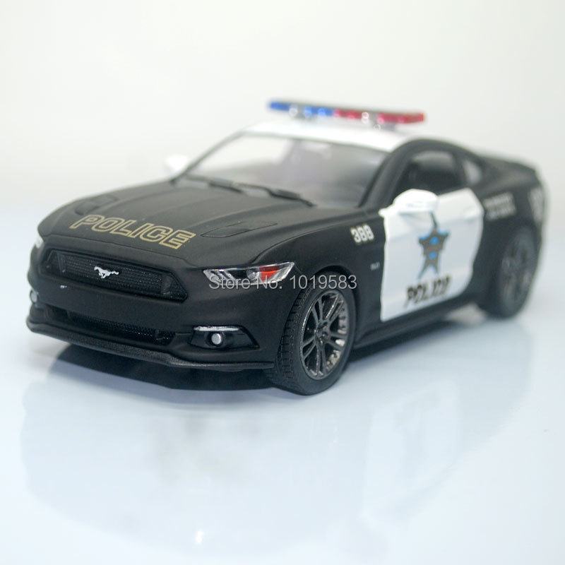 Brand New KINGSMART 1/38 Scale Car Toys Ford Mustang 2015 Police Edition Diecast Metal Pull Back Car Model Toy For Gift/Kids(China (Mainland))