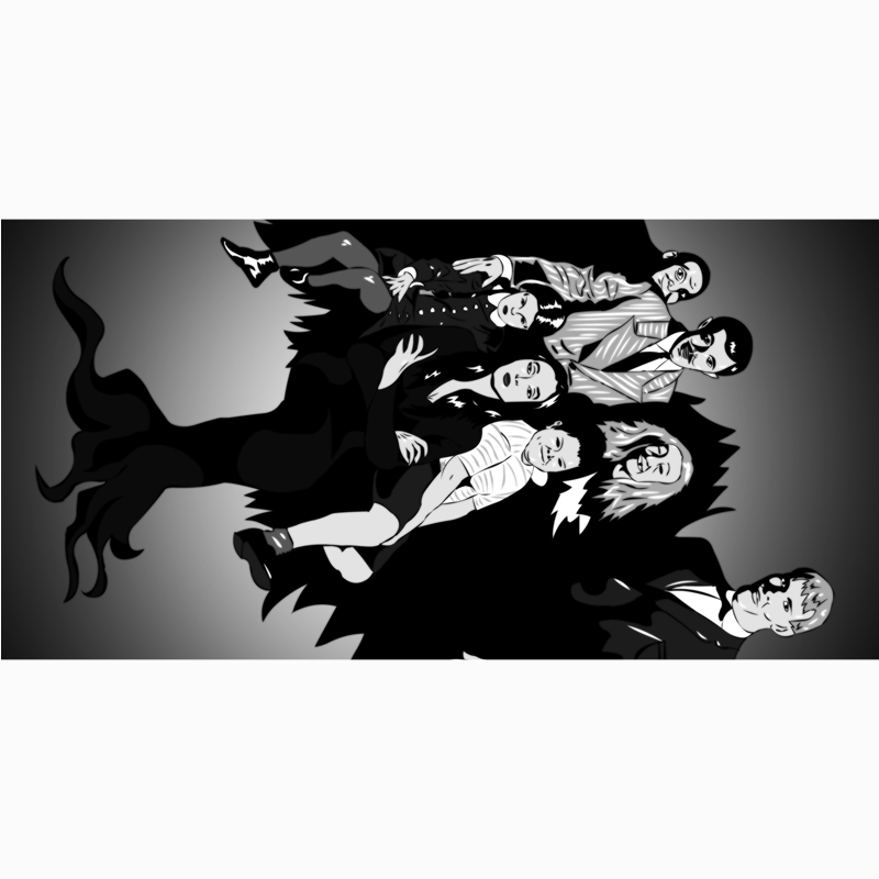 Bamboo Fiber Bath Towels For Adults 140x70cm Drying Washcloth The Addams Family Print Beach Towels Home Textile Bathroom Gift(China (Mainland))