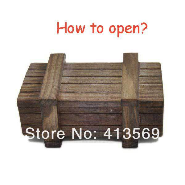Wholesale Funny Magic Game Puzzle Wooden Box with Secret Drawer Toys Retro Wood Luban Lock Geek Toy Gift Small(China (Mainland))