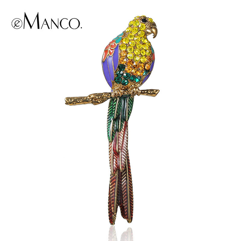 //Gold brooch animal jewelry//zinc alloy bird brooch new arrival 2015 jewelry small rhinestone brooches for women eManco BR02923(China (Mainland))