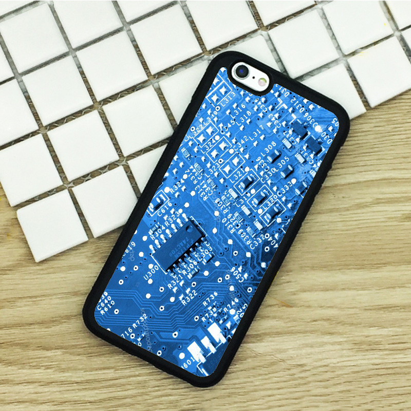 Soft TPU Phone Cases For iPhone 6 6S 7 Plus 5 5S 5C SE 4 4S ipod touch 4 5 6 Cover Shell Blue Computer Motherboard(China (Mainland))