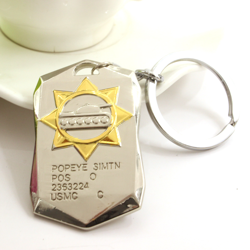 Hot Sale Fashion Online Game World of Tanks WOT Metal Zinc Alloy Key Chain Dog Tag Keyring For Men And Women Free shipping(China (Mainland))