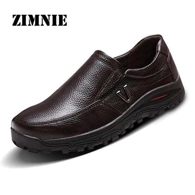 Мужская обувь из натуральной кожи бизнес мокасины квартиры на мужской свободного ...