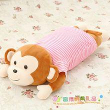 1pcs 65cm Lovely Big Mouth and Red Lip Monkey Plush Toy Rainbow Monkey Plush Pillow Creative Monkey Doll Christmas Gift